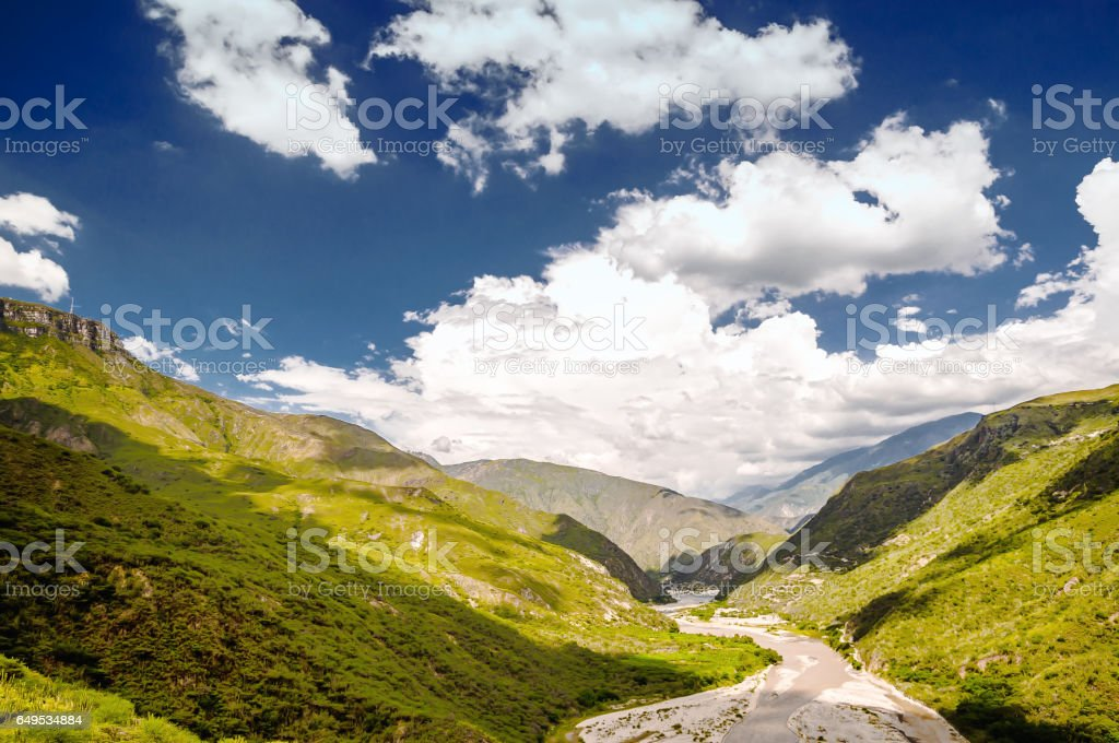 view on national park of Chicamocha in Colombia stock photo