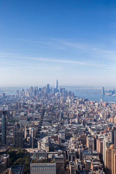 View on New York skyline from the Empire State Building stock photo