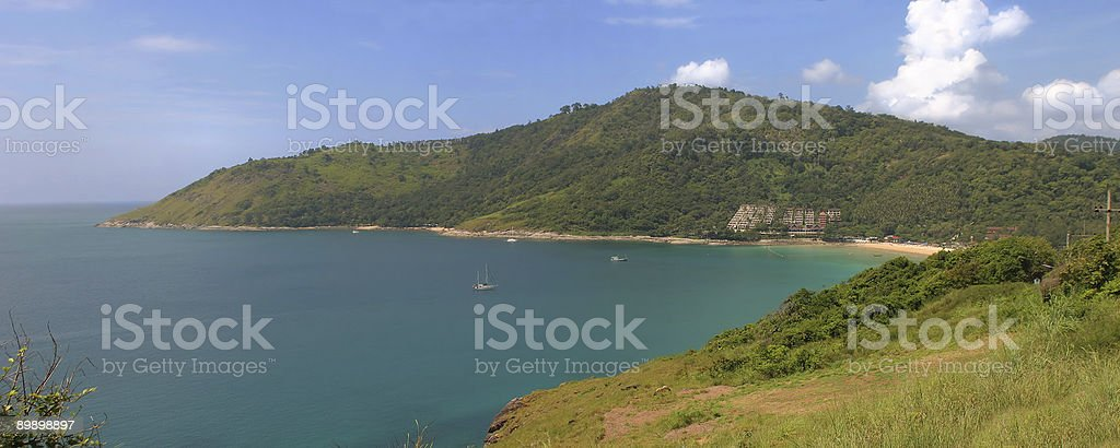 View on northern part of Phuket royalty-free stock photo
