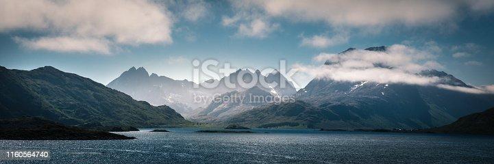 view on Norwegian rocky coastline
