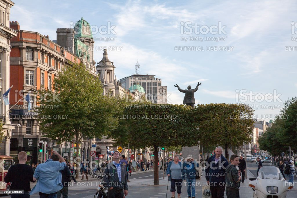 View on O'Connell street stock photo
