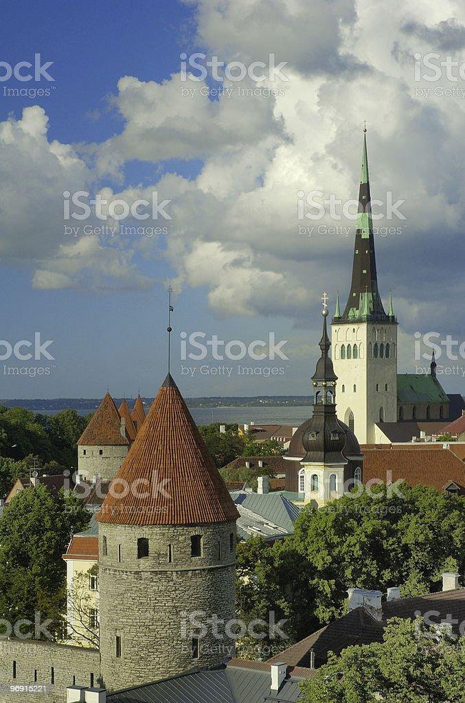 View on old city of Tallinn, Estonia royalty-free stock photo