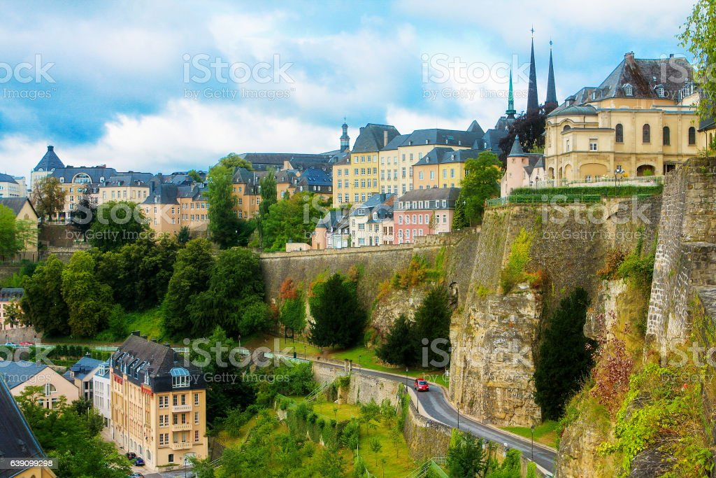 View on old Luxembourg City stock photo