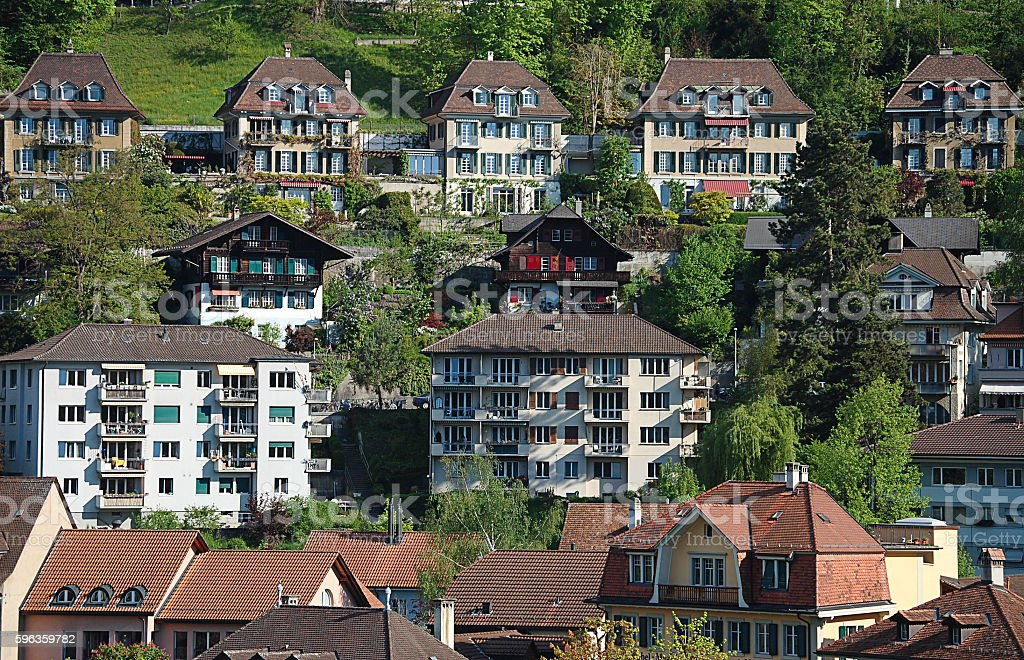 View on old town of Bern royalty-free stock photo