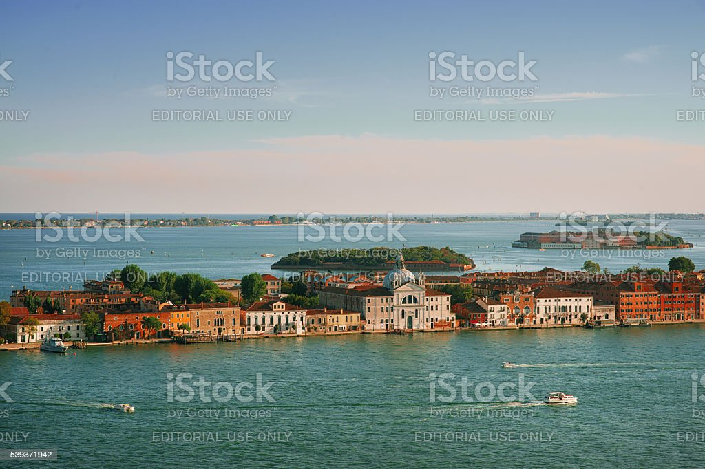 View on on the Giudecca Canal stock photo