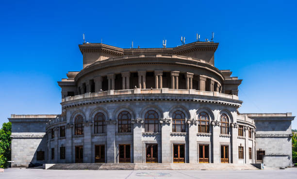 View on Opera and Ballet National Academic Theater in Yerevan, Armenia Opera and Ballet National Academic Theater in Yerevan, Armenia yerevan stock pictures, royalty-free photos & images