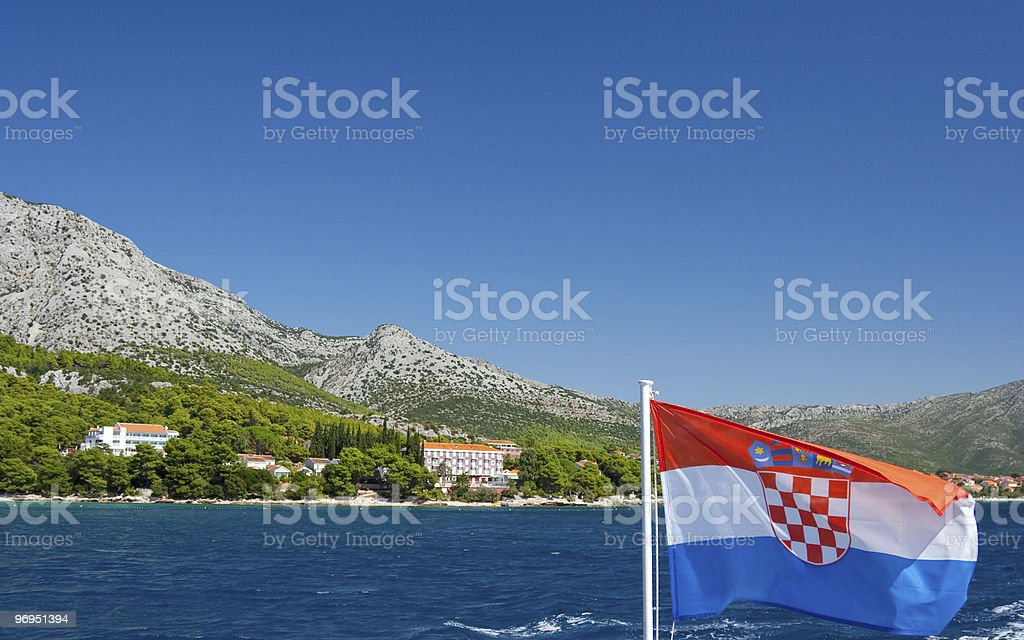 View on Peljesac - Croatia royalty-free stock photo