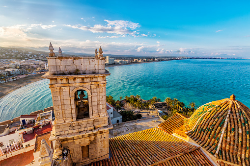 View on Peniscola  from the top of Pope Luna's  Castle