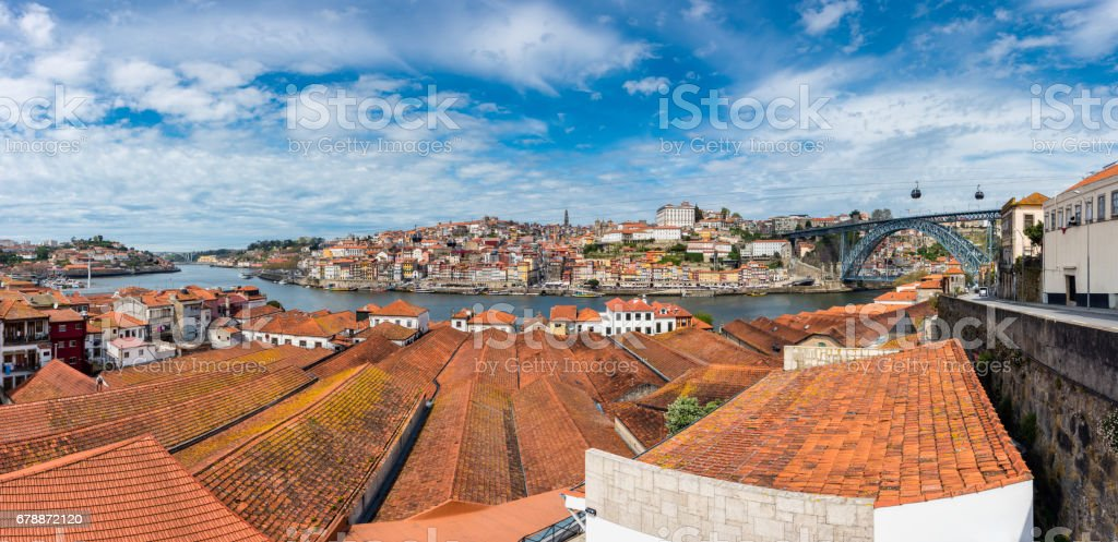 View on Porto Portugal from across the River Douro stock photo