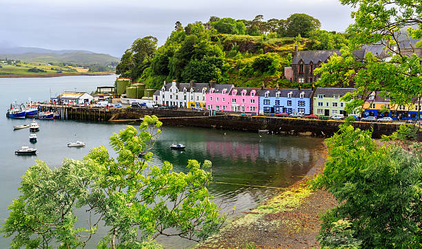 view on Portree , Isle of Skye, Scotland, UK – Foto
