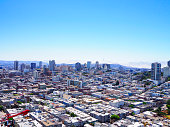 On the top of Coit tower, tourists could admire an amazing view on the city of San Francisco