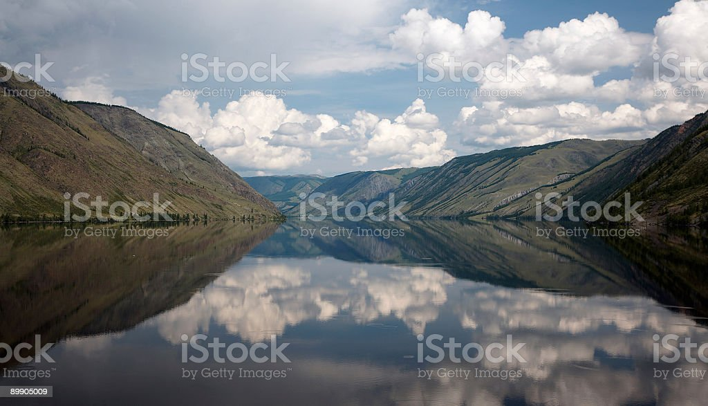 View on Siberian mountain  Lake royalty-free stock photo