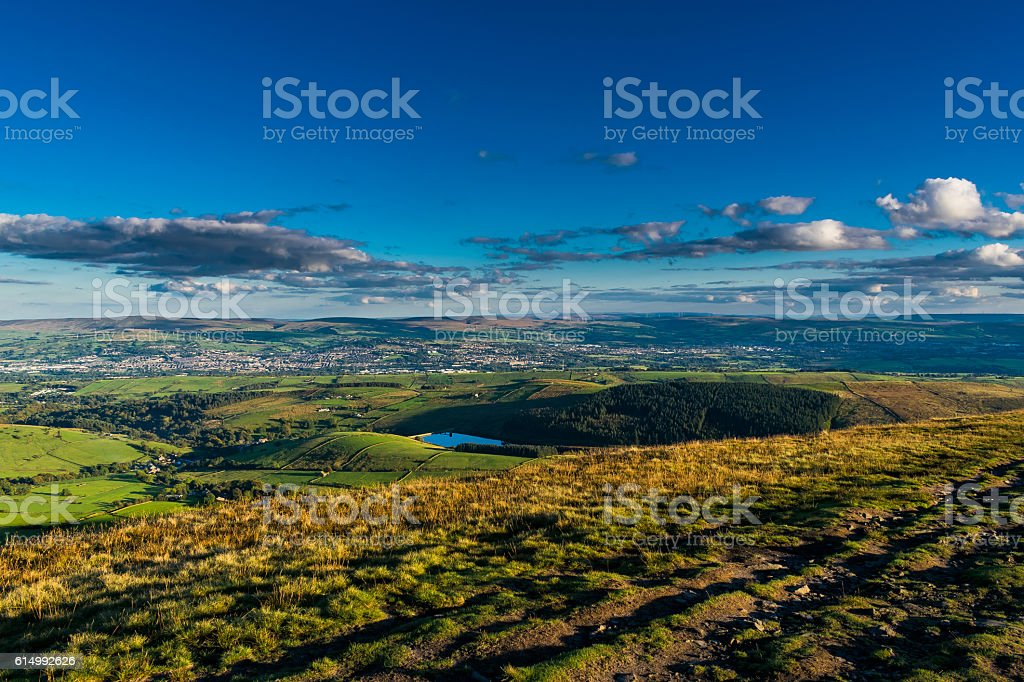 View on South East From Pendle Hill stock photo