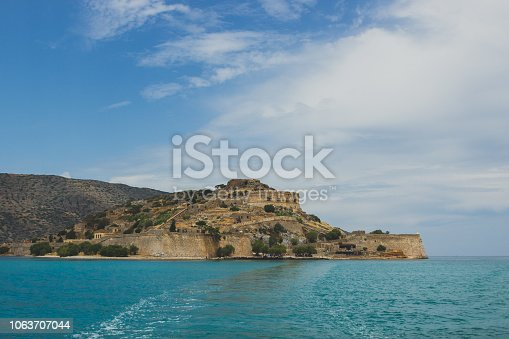 View on Spinalonga from boat