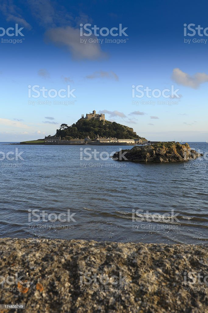 view on St. Michael's Mount royalty-free stock photo