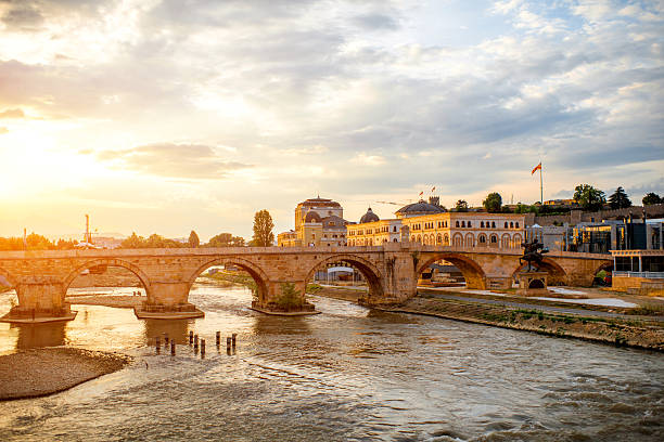 Ausblick auf den Stone bridge – Foto