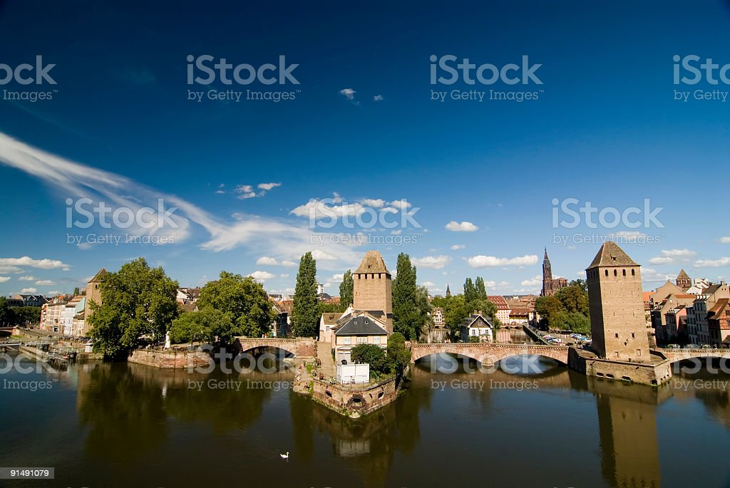 View on Strasbourg royalty-free stock photo