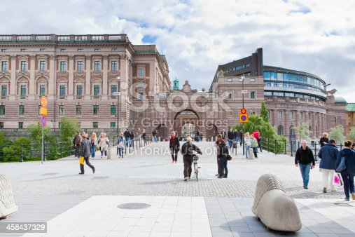 587773316 istock photo view on sweden Riksdag building 458437329