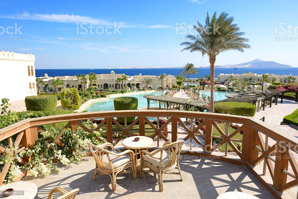 View On Swimming Pool Near Outdoor Restaurant At Luxury Hotel Stock Photo Download Image Now Istock