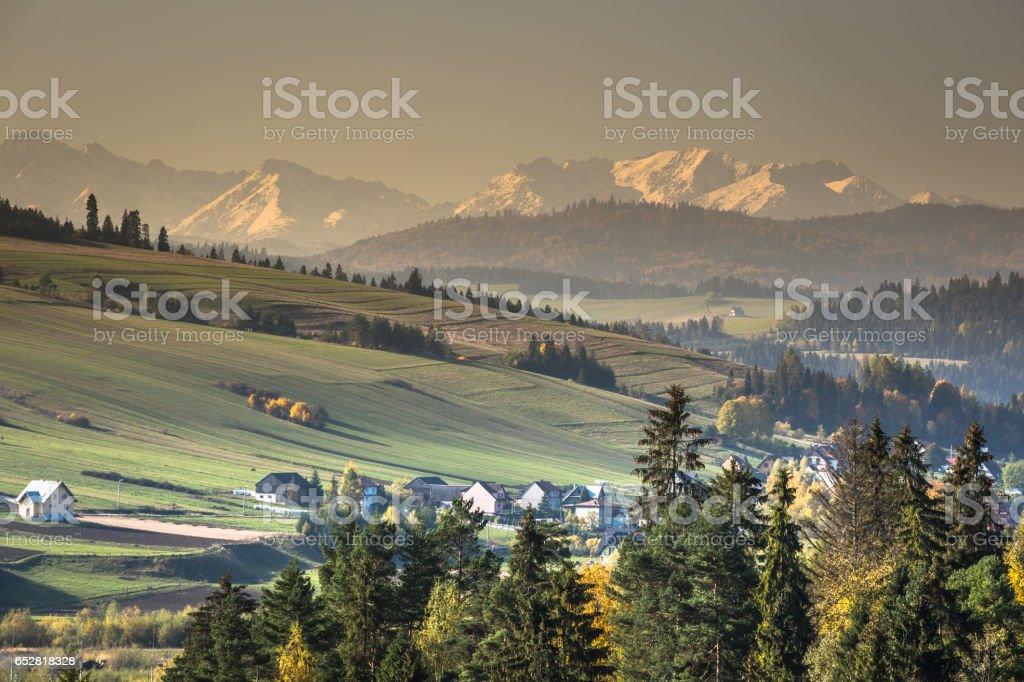 View on Tatras mounatins ,Poland. stock photo