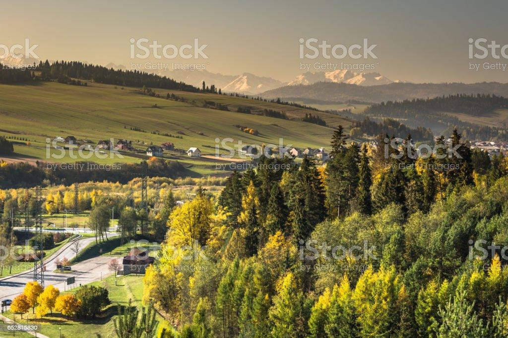 View on Tatras mounatins.Poland. stock photo
