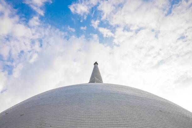 View on th stupa stock photo