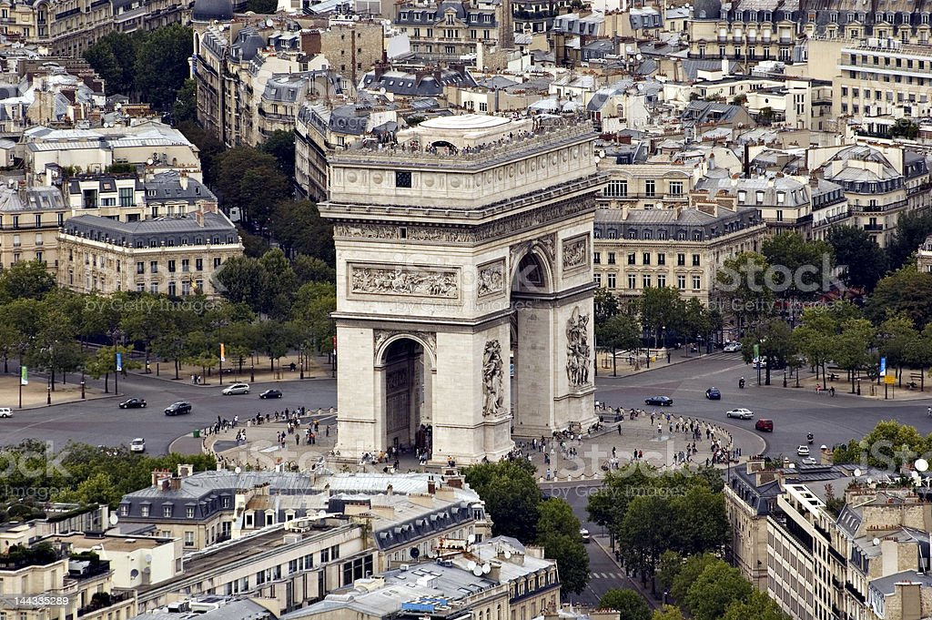 View on the 'Arc de Triomphe'. France stock photo