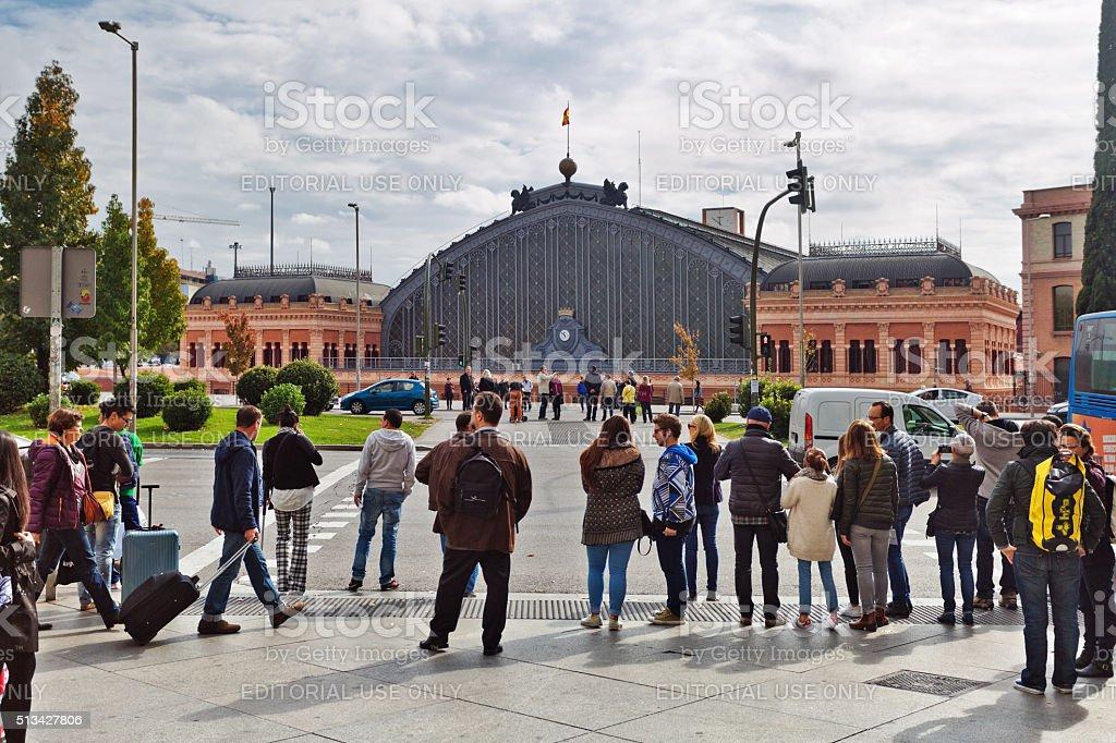 Ver en la antigua estación de tren Atocha en Madrid - foto de stock