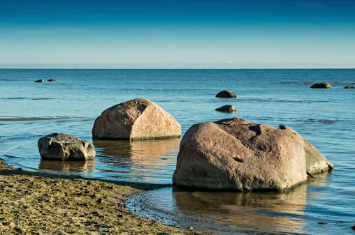 View on the Baltic Sea in Kaltene, Latvia