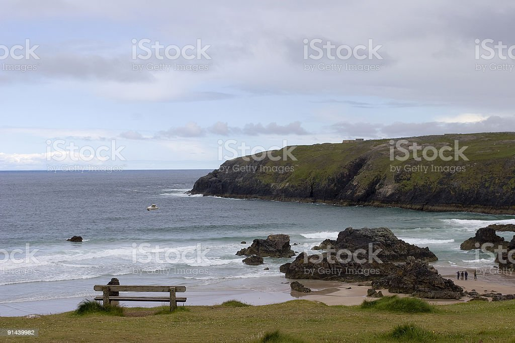 View on the beach of Durness (Scotland) stock photo