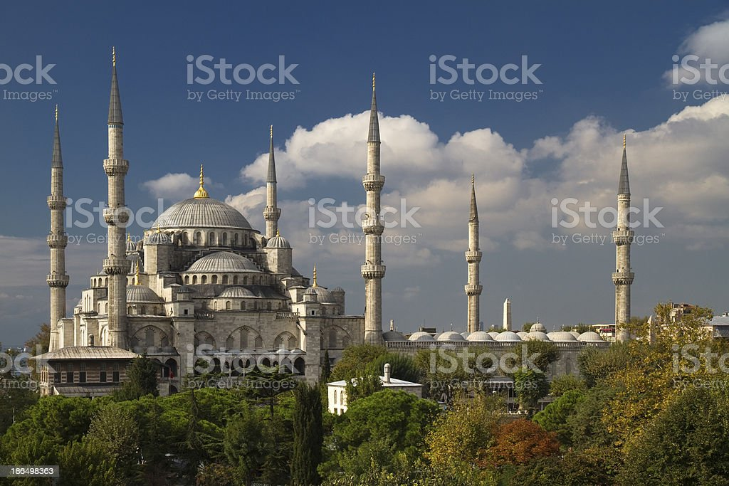 View on The Blue Mosque royalty-free stock photo