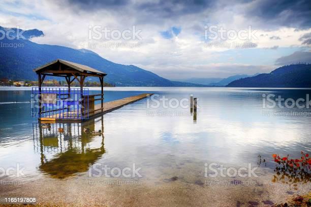 Photo of View on the Caldonazzo Lake - Lago di Caldonazzo in South Tyrol - Trentino Alto Adoge, Italy.