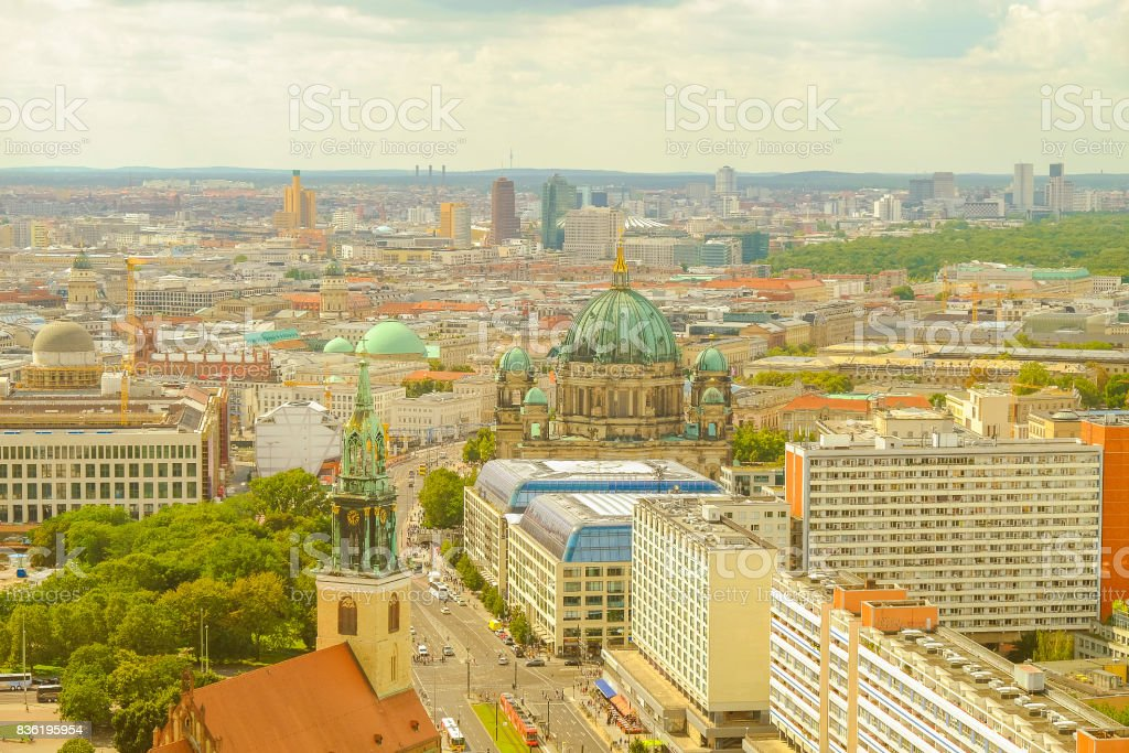 View on the center of Berlin, Germany. stock photo
