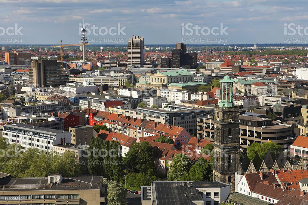 View on the center of Hannover royalty-free stock photo