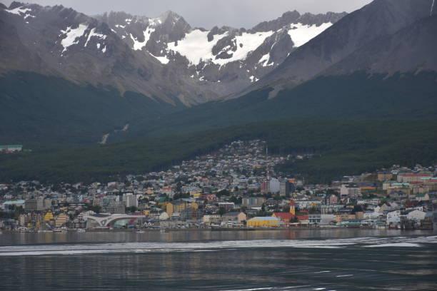 Blick auf das Zentrum von Ushuaia - Tierra del Fuego, Argentinien – Foto