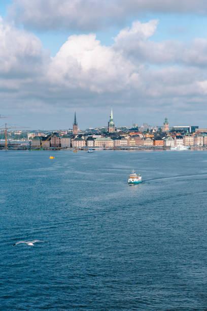 Blick auf das Stadtbild vom Kreuzfahrtschiff Stockholm Schweden – Foto