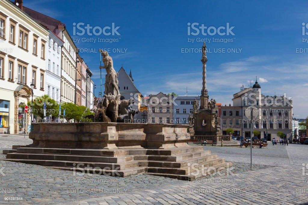 View on the Dolni square of Olomouc, Czech Republic stock photo