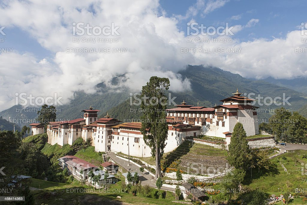 View on the Dzong of Trongza foto