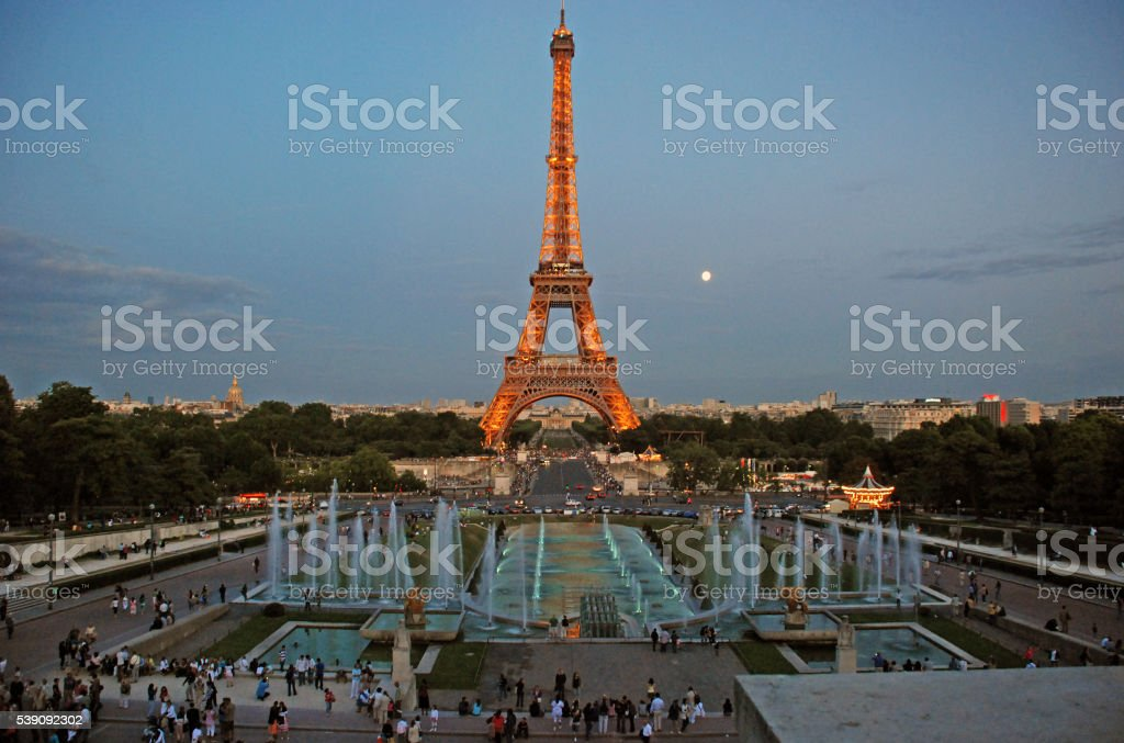 View on the Eiffel Tower stock photo
