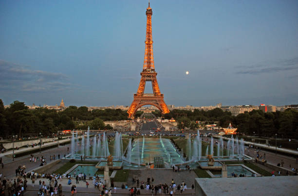 View on the Eiffel Tower View on the Eiffel Tower ecole stock pictures, royalty-free photos & images