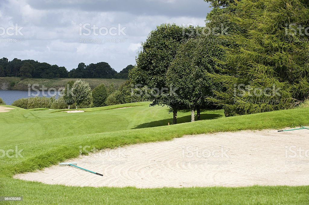 View on the golf course royalty-free stock photo