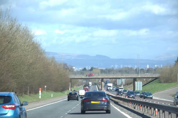Ver os na auto-estrada M77, Ayrshire - foto de acervo