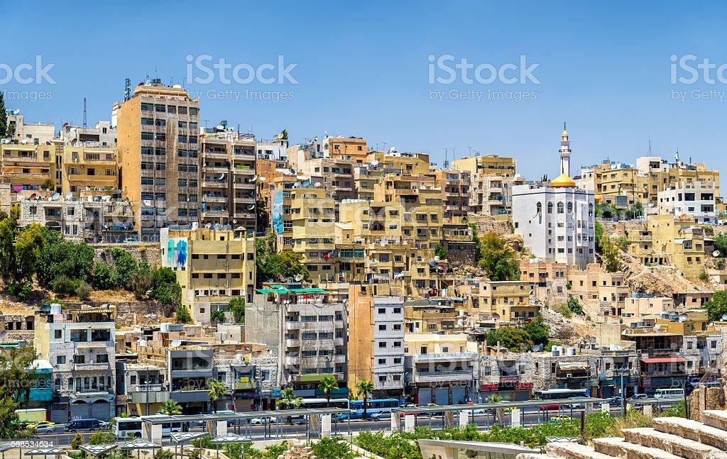 View on the modern city of Jerash photo libre de droits
