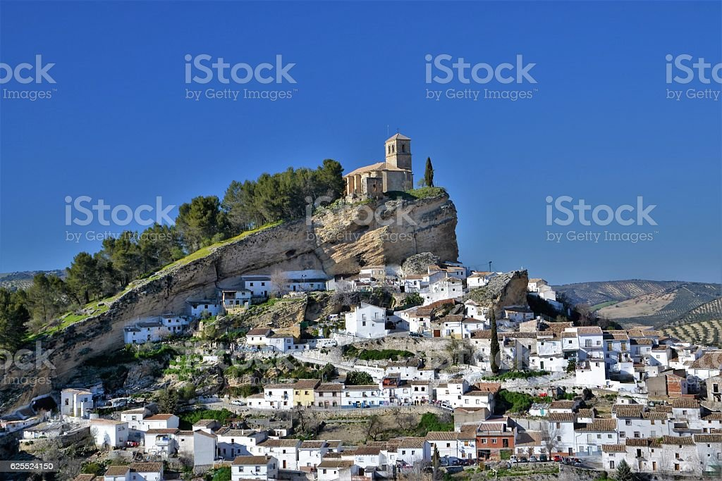 View on the Montefrio village stock photo