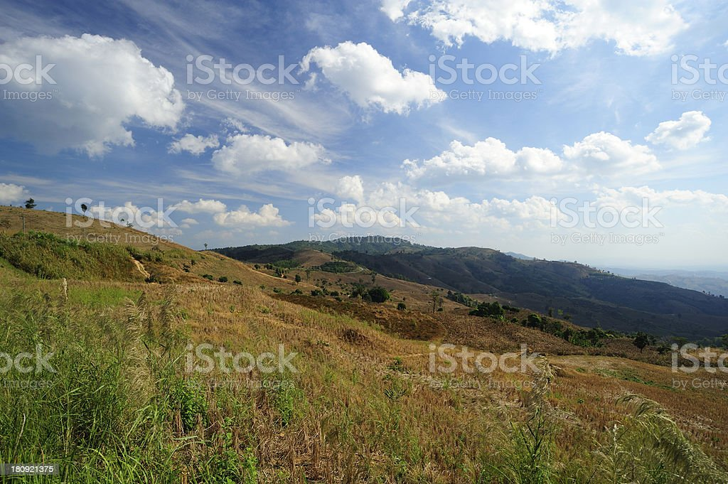 View on the mountains royalty-free stock photo