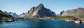View on the Norwegian fishing village Reine, in Lofoten