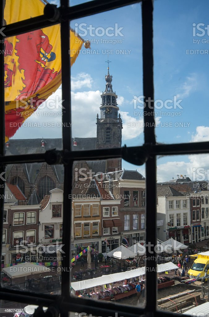 View on the old city of Gouda royalty-free stock photo