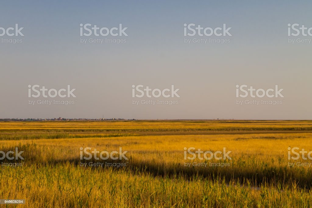 View on the Sivash lake, Ukraine stock photo