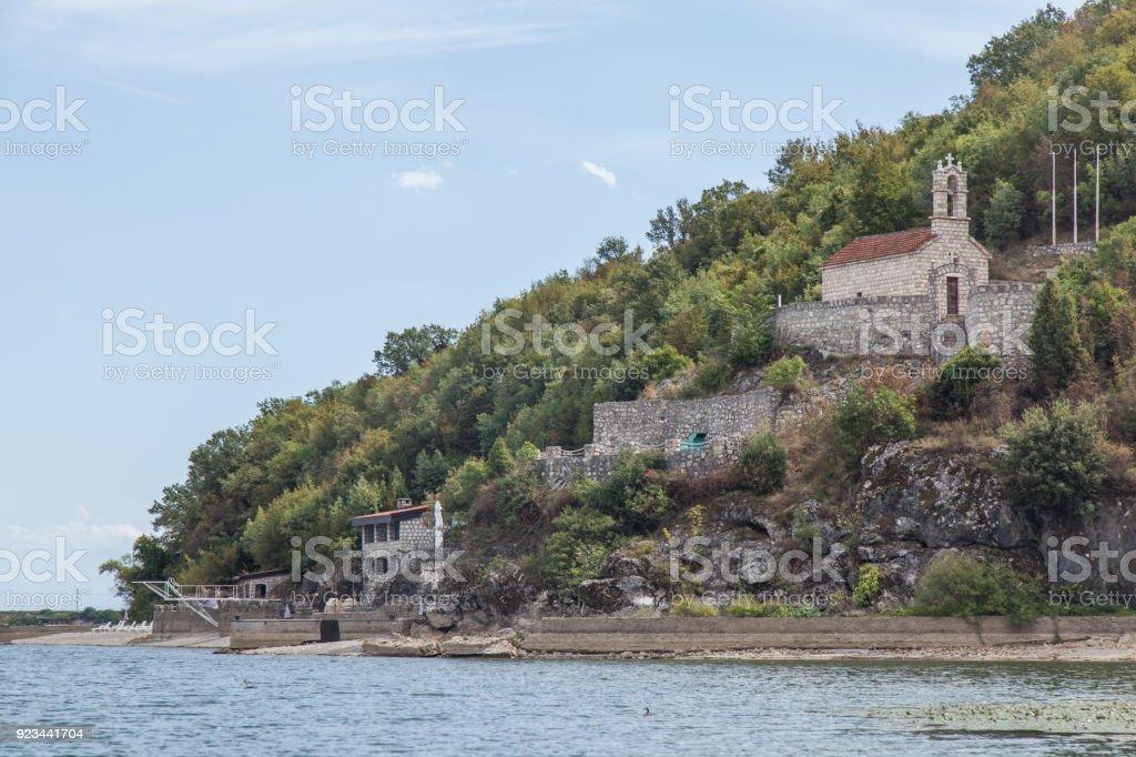 View on the Skadar Lake. stock photo