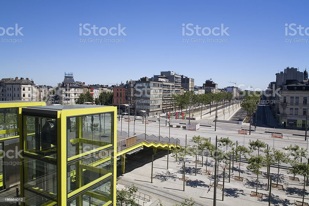 View on the south part of Antwerp royalty-free stock photo